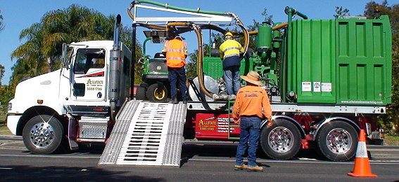 Water Blasting Roads by All State Marking Australia Wide